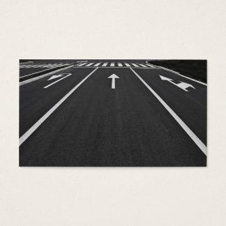 líneas de la calle tarjeta de negocios