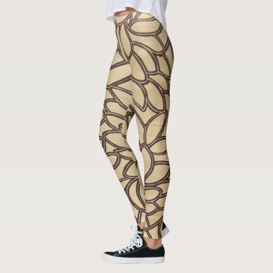 Líneas de la hoja leggings
