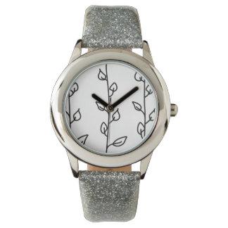 Líneas de vides reloj de pulsera