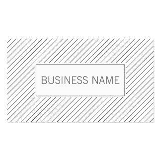 Líneas diagonales modernas tarjeta de visita del a