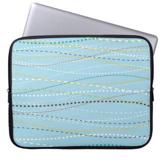 Líneas discontinuas punteadas onduladas de la dive manga portátil