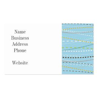 Líneas discontinuas punteadas onduladas de la tarjetas de visita
