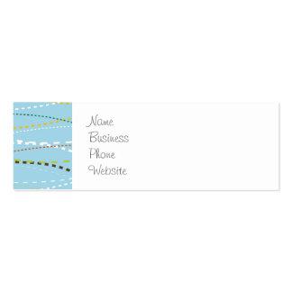 Líneas discontinuas punteadas onduladas de la tarjetas de visita mini