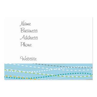Líneas discontinuas punteadas onduladas de la tarjetas de visita grandes