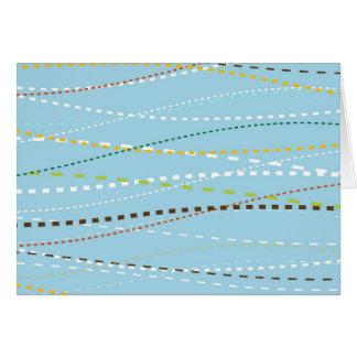Líneas discontinuas punteadas onduladas de la tarjeta pequeña