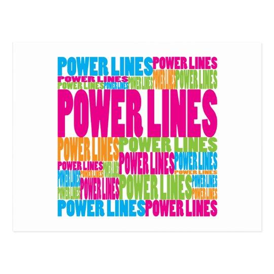 Líneas eléctricas coloridas postal