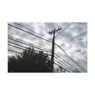 Líneas eléctricas de Connecticut Lienzo Envuelto Para Galerias