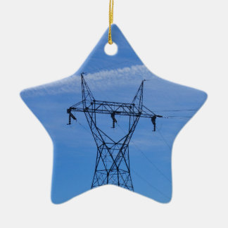 Líneas eléctricas en cielo azul ornamentos para reyes magos