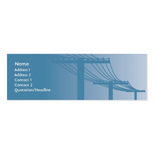 Líneas eléctricas - flacas tarjetas de negocios