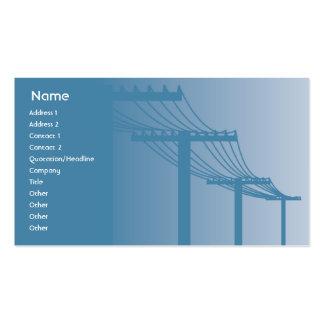 Líneas eléctricas - negocio tarjetas de visita