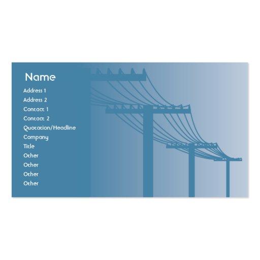 Líneas eléctricas - negocio plantillas de tarjetas de visita