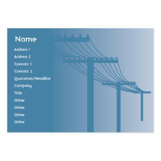 Líneas eléctricas - rechonchas tarjetas de visita grandes