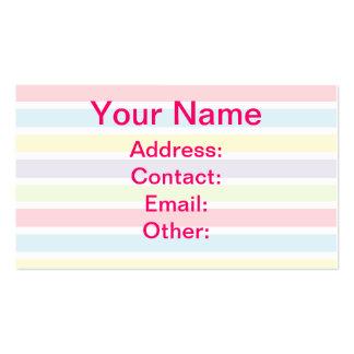 Líneas en colores pastel coloridas tarjeta de visita