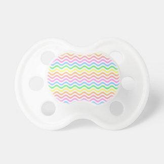 Líneas en colores pastel onduladas chupetes para bebes
