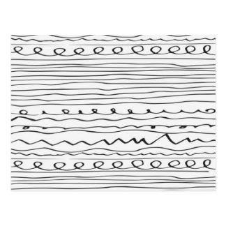 líneas escritas mano postal