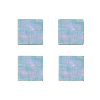 Líneas geométricas imanes de piedra de mármol de