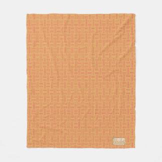 Lineas horizontales verticales manta amelocotonada