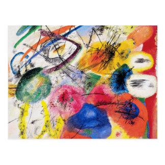 Líneas negras postal de Kandinsky