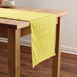 Líneas onduladas amarillas limón brillantes camino de mesa
