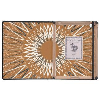 Líneas onduladas anaranjadas iPad protectores