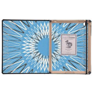 Líneas onduladas azules iPad protectores