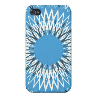 Líneas onduladas azules iPhone 4 carcasas