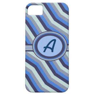 Líneas onduladas azules y grises caso de Iphone 5 Funda Para iPhone SE/5/5s