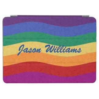 Líneas onduladas coloreadas arco iris cubierta de iPad air