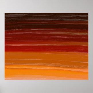 Líneas onduladas de Brown del arte de la