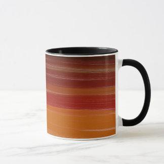 Líneas onduladas de Brown del arte de la Taza