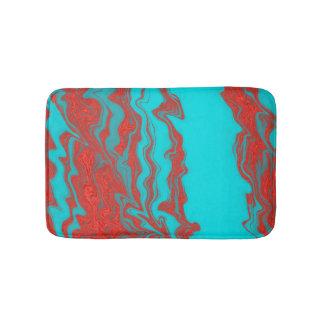 Líneas onduladas de la turquesa roja