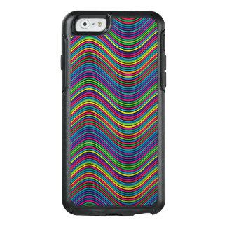 Líneas onduladas decorativas del color del arte funda otterbox para iPhone 6/6s