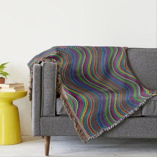 Líneas onduladas decorativas del color del arte manta