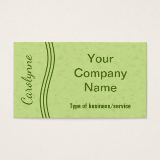 Líneas onduladas elegantes modernas verde lima tarjeta de negocios