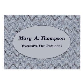 Líneas onduladas grises claras tarjetas de visita grandes