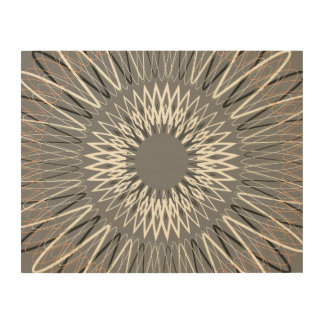 Líneas onduladas grises impresiones en madera