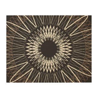 Líneas onduladas impresión en madera
