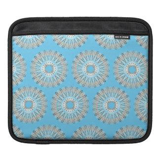 Líneas onduladas modelo azul claro manga de iPad