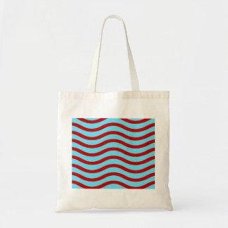 Líneas onduladas modelo de la turquesa roja del tr bolsa