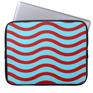 Líneas onduladas modelo de la turquesa roja del tr manga portátil