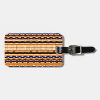 Líneas onduladas modelo etiquetas bolsa