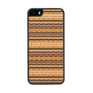 Líneas onduladas modelo funda de madera para iPhone SE/5/5s
