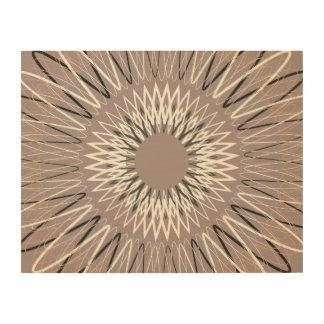 Líneas onduladas moreno cuadro de madera