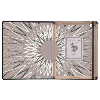 Líneas onduladas moreno iPad carcasa