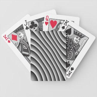 Líneas onduladas naipes del vintage barajas de cartas