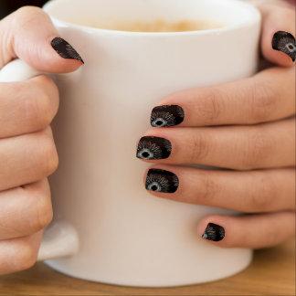 Líneas onduladas negro del modelo pegatina para uñas