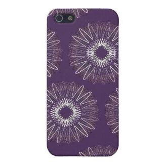 Líneas onduladas púrpura del modelo iPhone 5 cárcasa