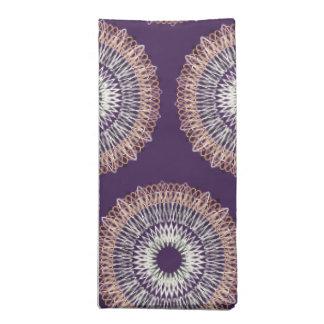 Líneas onduladas púrpura del modelo servilleta imprimida