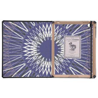 Líneas onduladas púrpuras iPad cárcasa