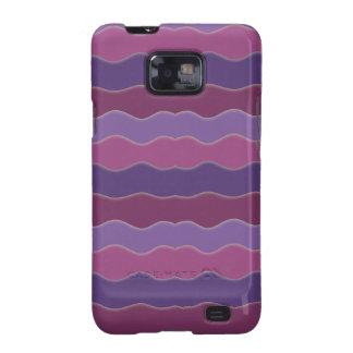 Líneas onduladas púrpuras galaxy SII fundas